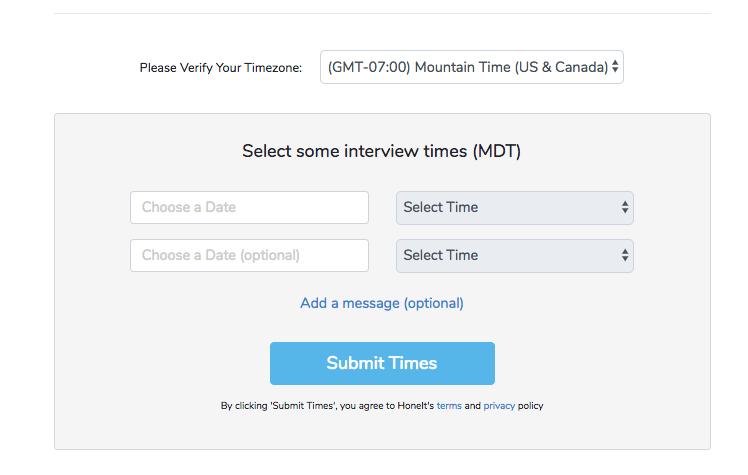 Honeit interview software - quick schedule